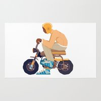 honda Area & Throw Rugs featuring #2 HONDA Z50 by Brownjames Prints