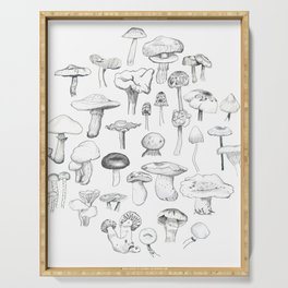The mushroom gang Serving Tray