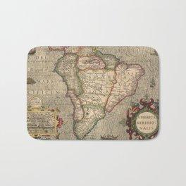 Vintage Map of South America (1606) Bath Mat