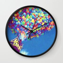 Up Balloons Wall Clock