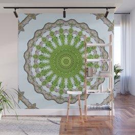 Bark Leaves Stone Kaleidoscope Art 3 Wall Mural