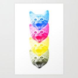 CMYKat Art Print