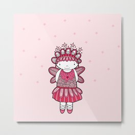 Pink Angel Metal Print