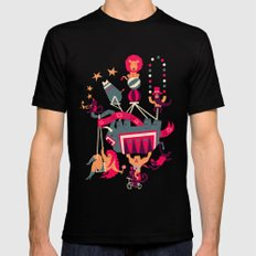 Circus is coming MEDIUM Black Mens Fitted Tee