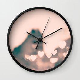 Paris heart bokeh at le Marais Wall Clock