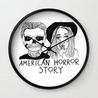 ahs Wall Clocks featuring AHS by ☿ cactei ☿