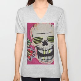 If You're Happy And You Know It..Clap Your Bones Unisex V-Neck