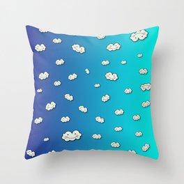 Crazy Clouds! Throw Pillow