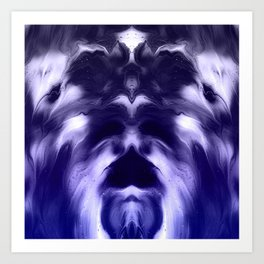 abstract psychedelic paint flow ghost face c8 Art Print