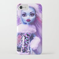 monster high iPhone & iPod Cases featuring Monster High Abbey Doll MHSQ by KittRen