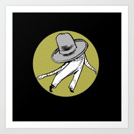 Mr. Hat Art Print
