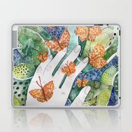 abstract whimsical nature art Laptop & iPad Skin