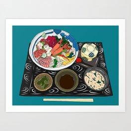 Japanese Seafood Chirashi Platter Art Print
