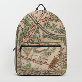Vintage Map of The Battle of Chantilly (1865) Backpack