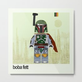 Star.Wars Boba Fett styled Mini Figure Metal Print
