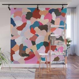 petals: abstract painting Wall Mural