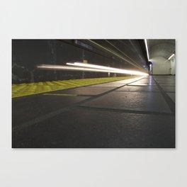 Motion Blur Granville Skytrain 1 Canvas Print