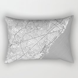 Barcelona Map Line Rectangular Pillow