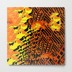 Nightmares:  City Asleep in the Raging Inferno Metal Print
