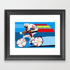 Vintage Original Tour De France Legend Indurain cycling Framed Art Print