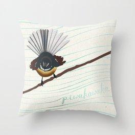 Piwakawaka Throw Pillow
