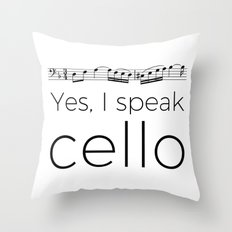 I speak cello Throw Pillow