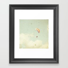 Alone in the sky Framed Art Print