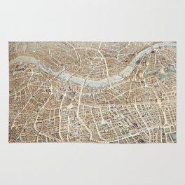 Vintage Pictorial Map of London (1851) Rug