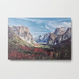 Tunnel View Yosemite Valley Metal Print