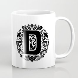 Letter D monogram wildwood Coffee Mug