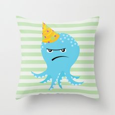 Squid of Partypooping Throw Pillow