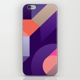 ultraviolet pink abstract geometry iPhone Skin