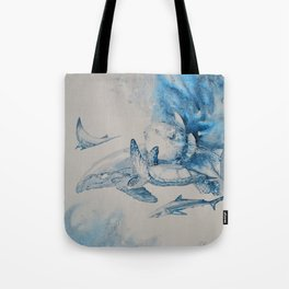 Gulf Stream - Whale, Sea Turtle, Shark Tote Bag