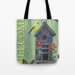 Welcome Goldfinch Tote Bag