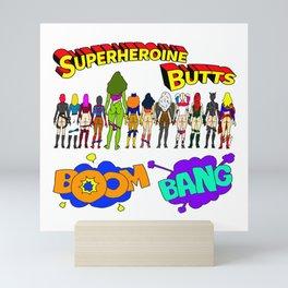 Superheroine Butts BOOM BANG Mini Art Print
