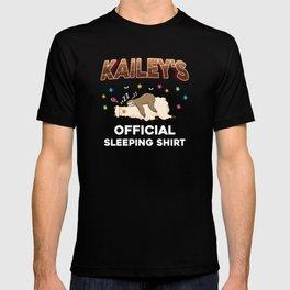 Kailey Name Gift Sleeping Shirt Sleep Napping T-shirt