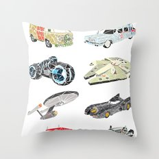 The Iconic Transportation Units Throw Pillow