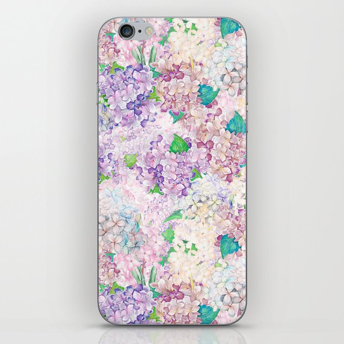 Pastel Purple and blue Lilac & Hydrangea - Flower Design iPhone Skin