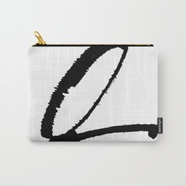 Letter Q Ink Monogram Carry-All Pouch