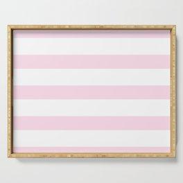 Pink Stripes on white - Beautiful luxury pattern Serving Tray