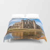 downton abbey Duvet Covers featuring Whitby Abbey by davehare