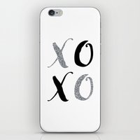 xoxo iPhone & iPod Skins featuring XOXO by Indulge My Heart