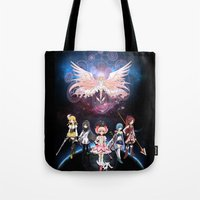 madoka Tote Bags featuring Madoka Magica by Yiji
