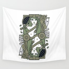 Eva Queen of Club - Pyrrha Wall Tapestry