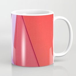 geometric shapes material design violet and pink android lines lollipop geometry creative strips gre Coffee Mug