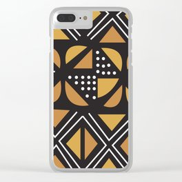 African Tribal Pattern No. 11 Clear iPhone Case