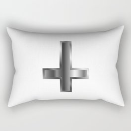 An inverted cross- The Cross of Saint Peter used as an anti-Christian and Satanist symbol Rectangular Pillow