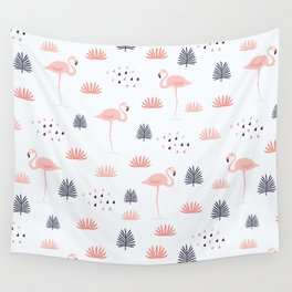 Minimal Flamingo Wall Tapestry