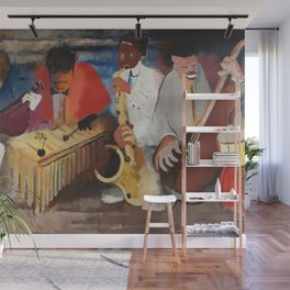 African American Masterpiece 'Jumpin Jive' by Norman Lewis Wall Mural