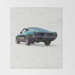 Bullitt - Alternative Movie Poster Throw Blanket